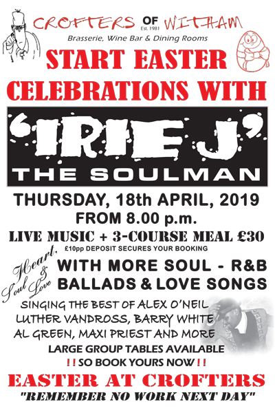 Irie J at Crofters