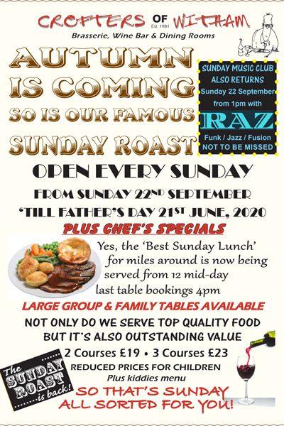 Sunday Roast at Crofters